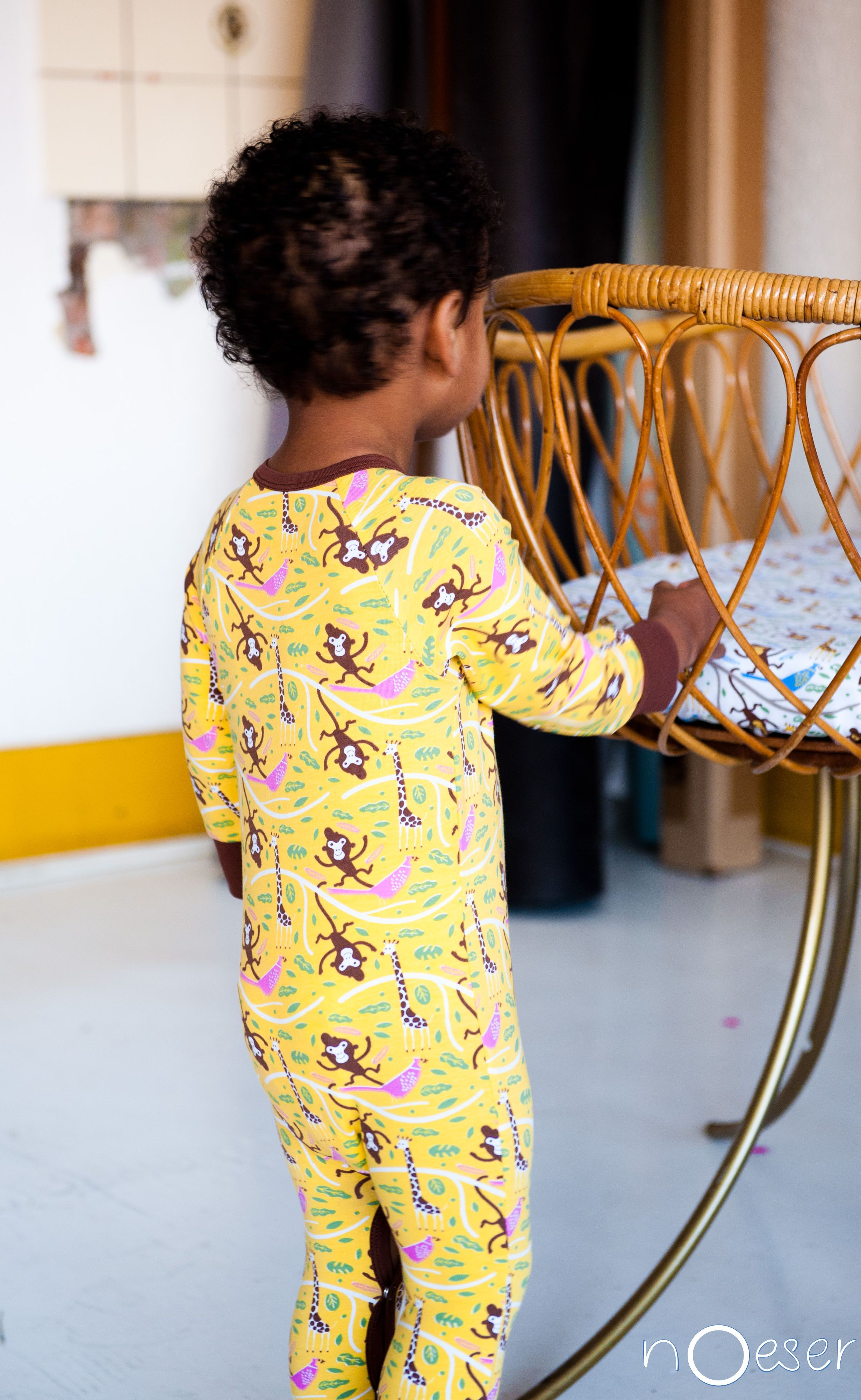 lovely yellow jumpsuit nOeser baby clothing and baby lifestyle AW14/15 collection. check www.noeser.eu for more