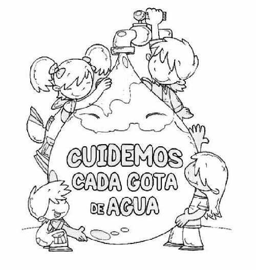 Dibujos para colorear Día Mundial del Agua | Recursos educativos ...