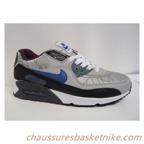 Nike Air Max 90 Chaussures Hommes Gris Bleu Marron   Sneakers nike ...