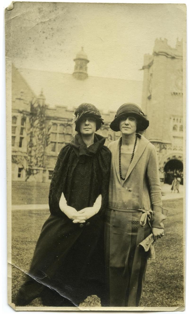 Two stylish 1920s Emma Willard School students.