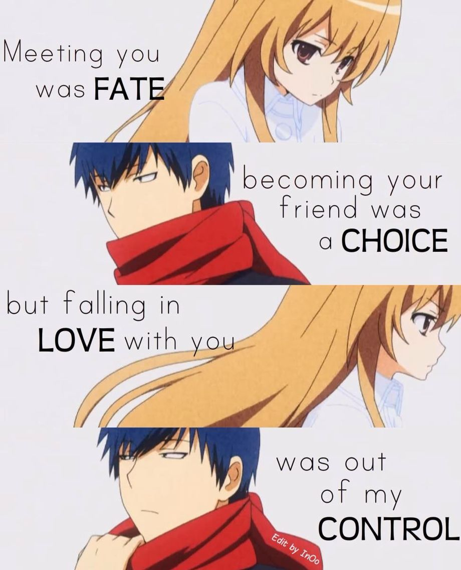 TaigaxRyuuji FTACW (AC= Anime Couple) Anime love quotes