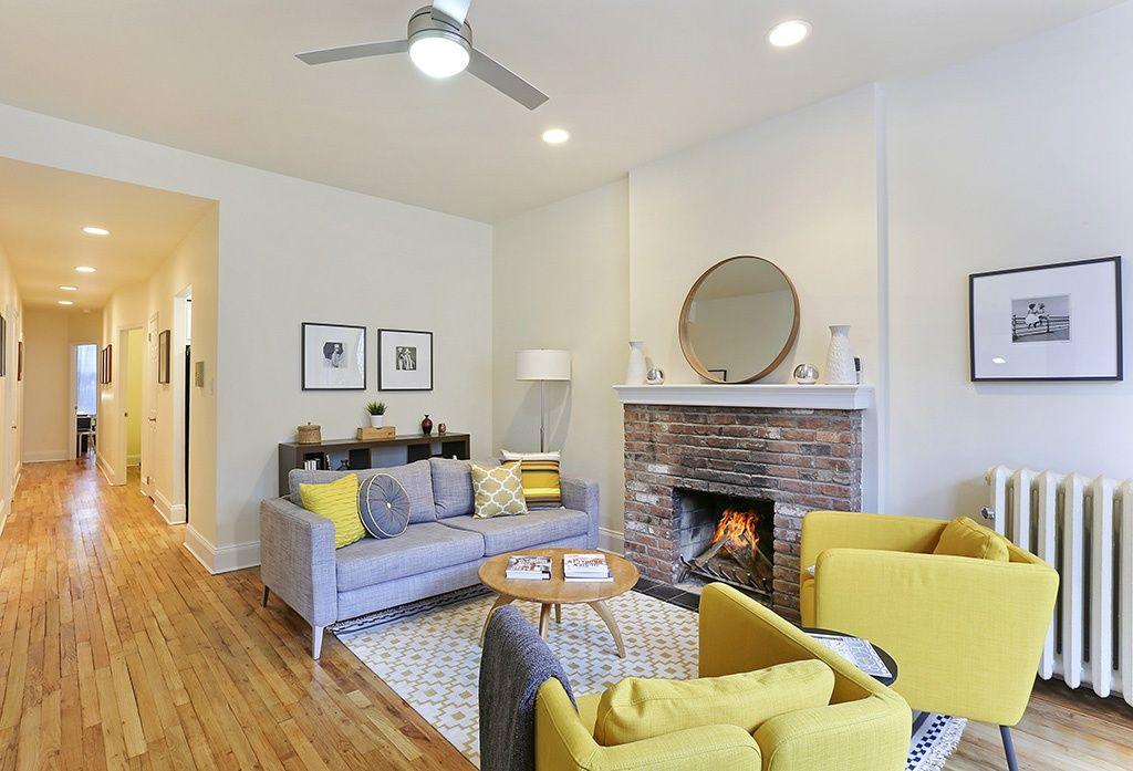 Contemporary Living Room with Ikea Karlstad Leg Aluminum ...