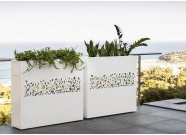 Paravent Design Avec Jardiniere En Acier Blanc Ou Graphite