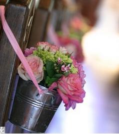 Bucket flowers.