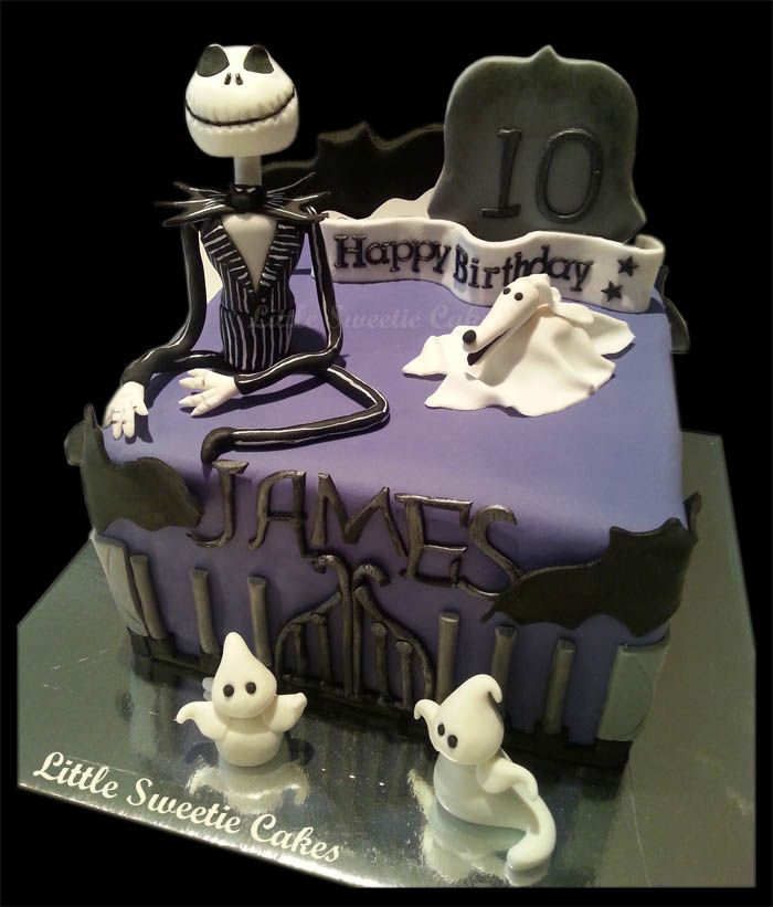 Jack Skeleton Birthday Cake All Bout Party Ideasthemes Spooky
