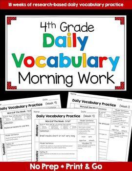 Vocabulary (4th Grade): Yearlong Growing Bundle
