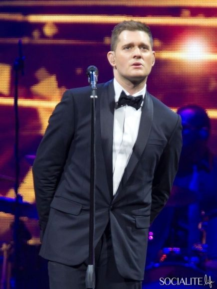 Michael Buble Performs Concert In Manchester