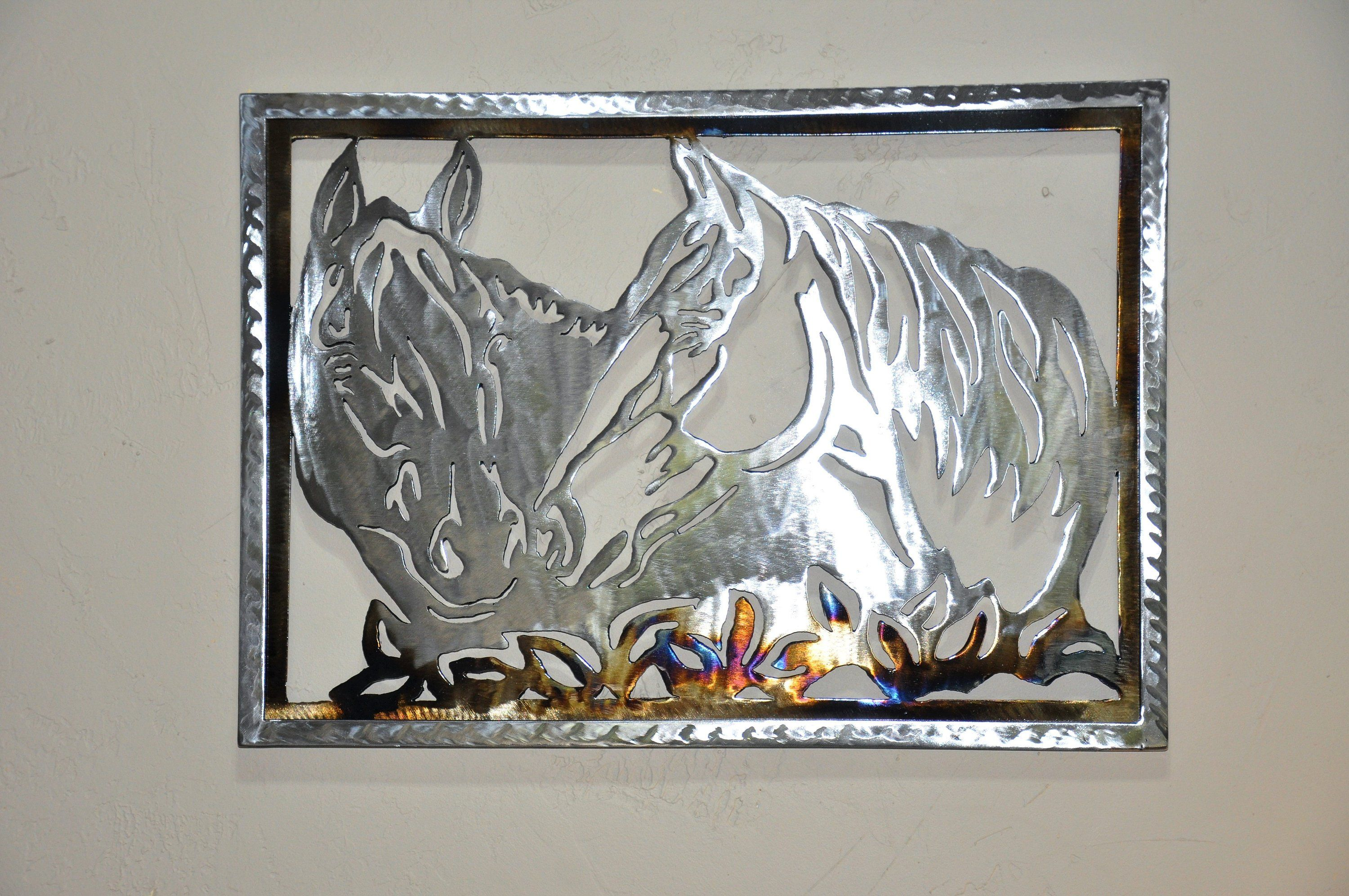 Decoration Murale Cheval Metal Art Wall Art Metal Horse Contemporary Wall Sculpture In
