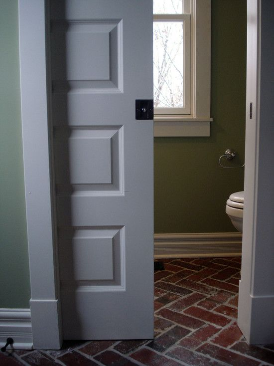 Basically if I could have all pocket doors, that would be awesome. Some paned, some solid.
