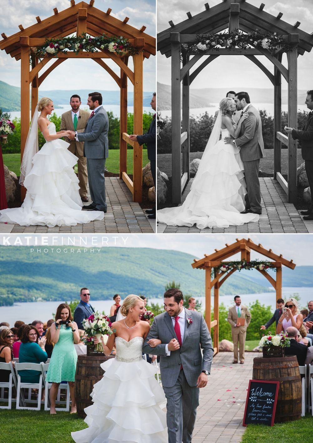 Bristol Harbour Resort Spring Wedding Ceremony Overlooking Canandaigua Lake Ny Photos By Katie Finnerty