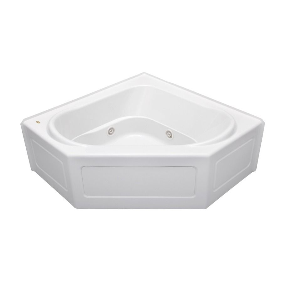 Jacuzzi Capella 55-In White Acrylic Alcove Whirlpool Tub With Center ...