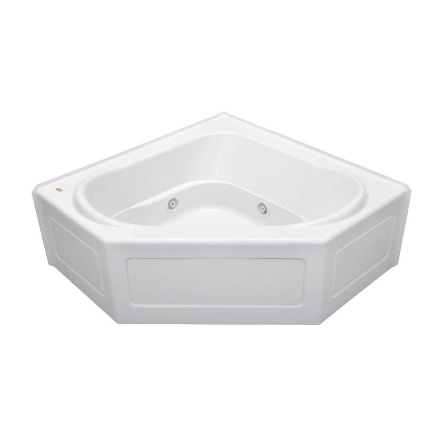 Jacuzzi Capella 55 In White Acrylic Alcove Whirlpool Tub