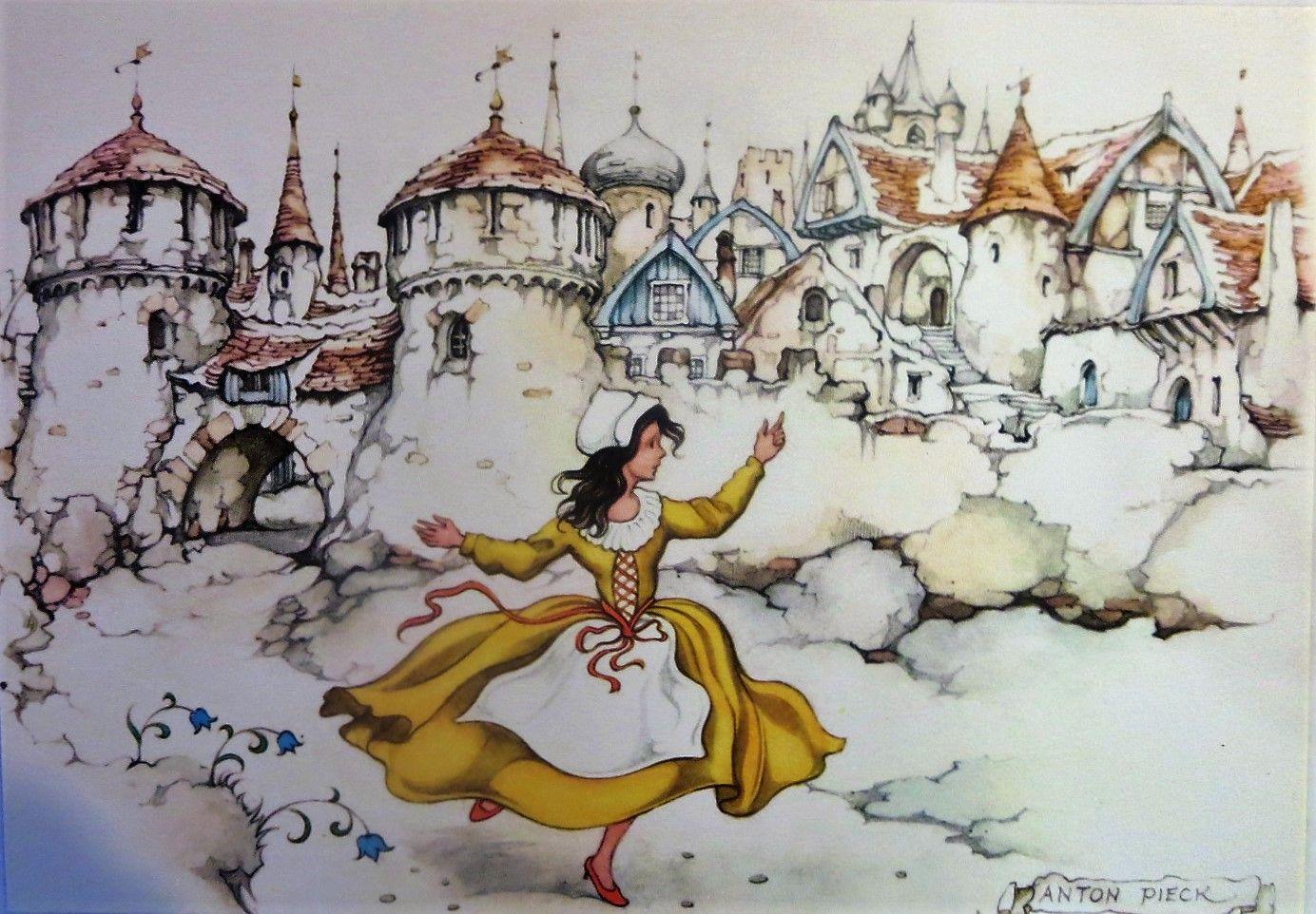 7dc5c85d4ac de rode schoentjes/ anton pieck/ efteling   sprookjes/ fairy tales ...