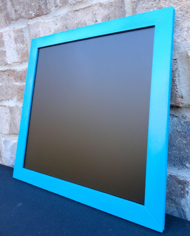 Square Teal / Turquoise Framed Chalkboard - Hanging Chalk Board ...