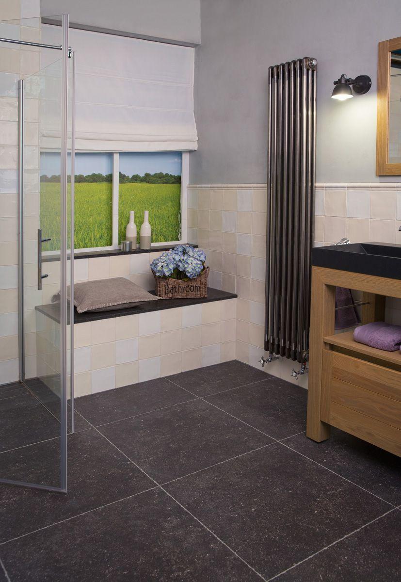 badkamer puur heel handig een fraai zitje in de badkamer