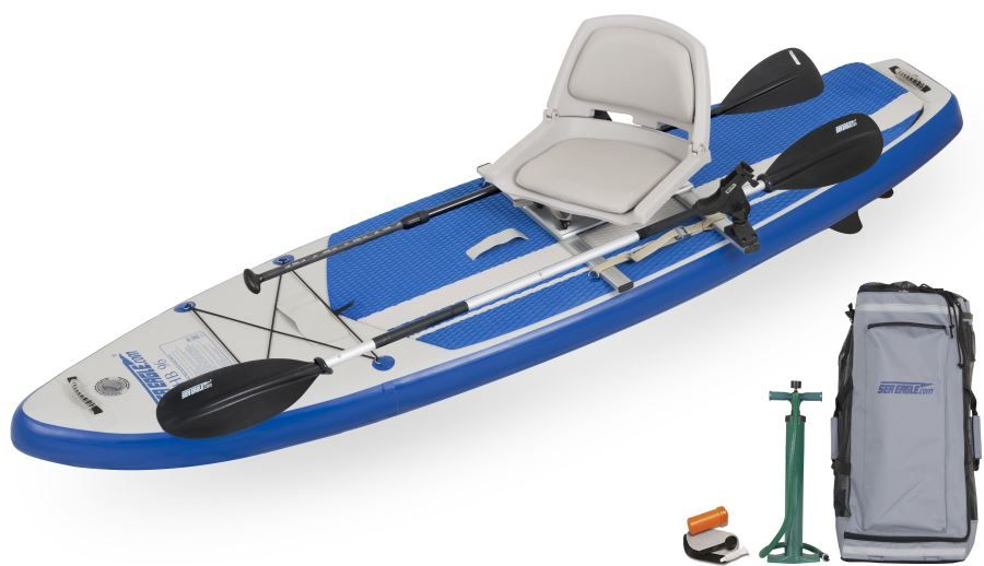 Sea Eagle Hybrid 9 6 Inflatable Stand Up Paddle Board Swivel Seat