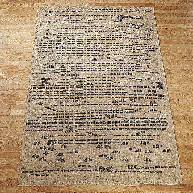Living Room Alternative Morse Jute Rug Cb2
