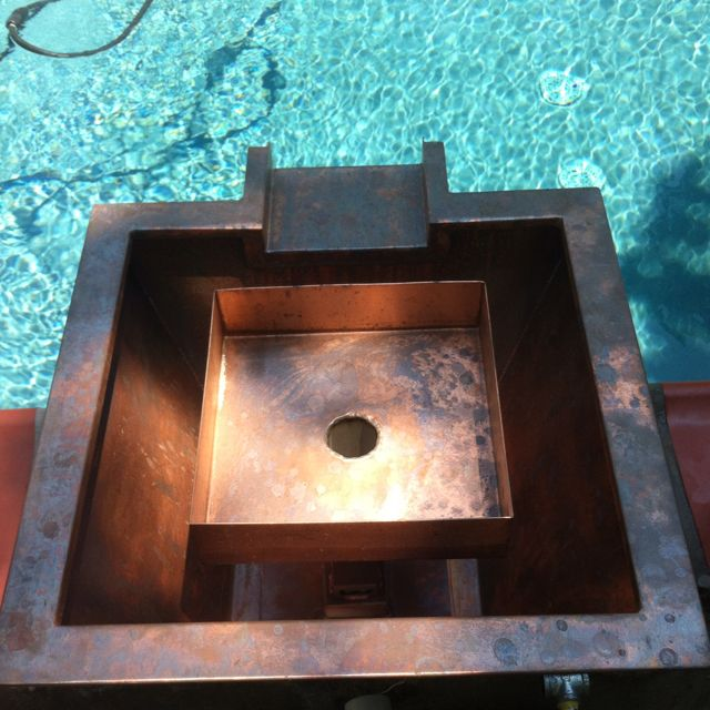 Fire pool fountain