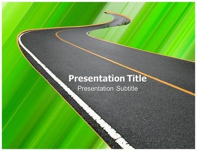 road #powerpoint template - slide world | animated powerpoint, Modern powerpoint