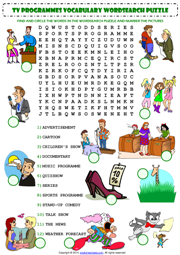 Tv Programmes Esl Printable Worksheets And Exercises English