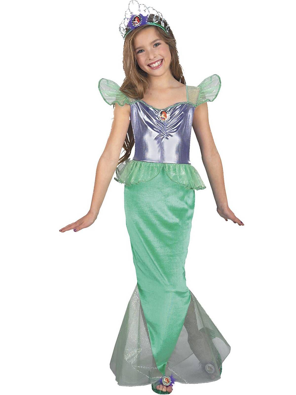 Ariel Little Mermaid Standard Child Complete Costume Kit - Small ...