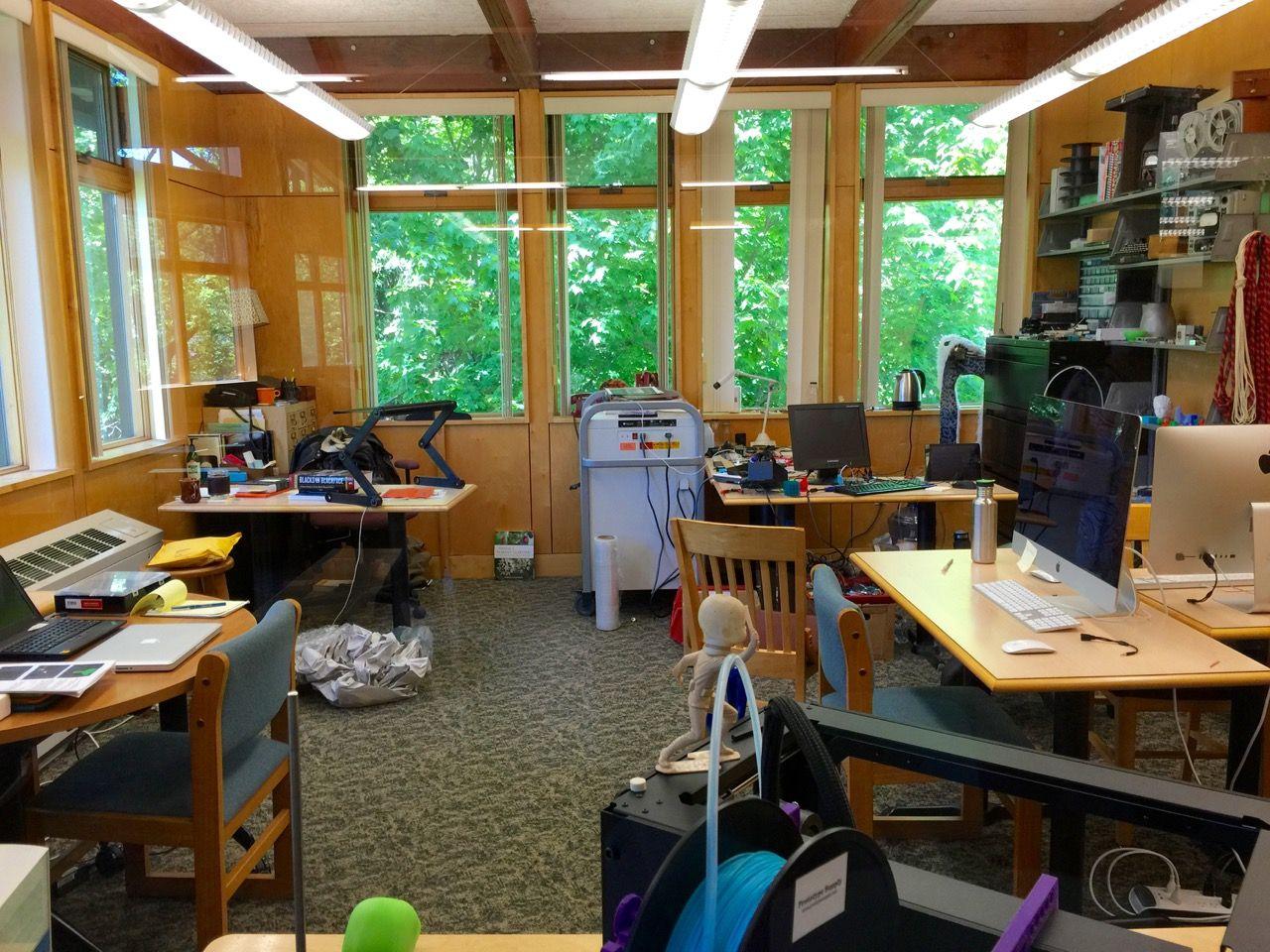 Maker space in the Library Tech Lab in Warren Wilson