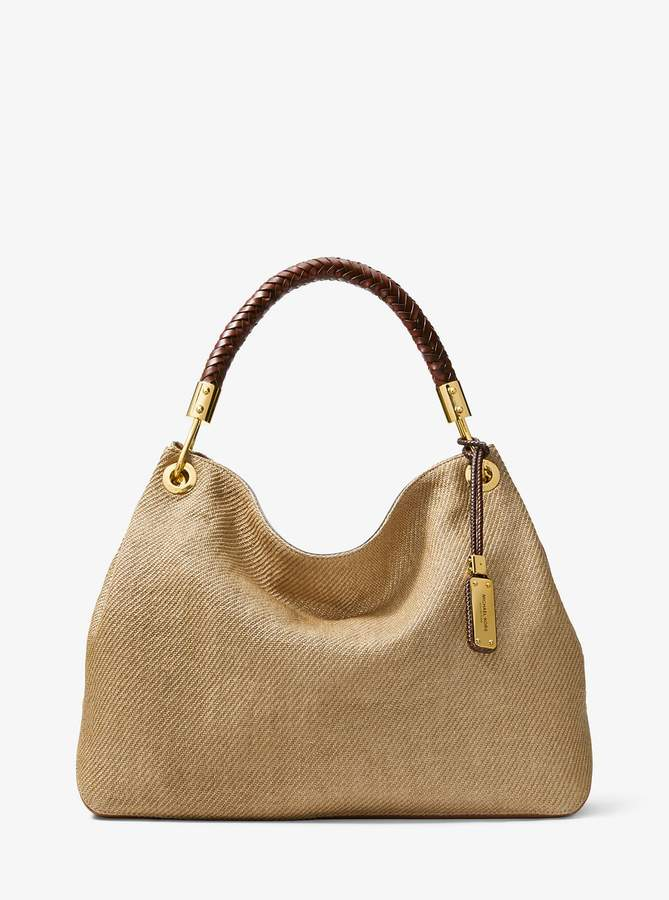 Michael Kors Collection Skorpios Large Woven Shoulder Bag  08df34640f137