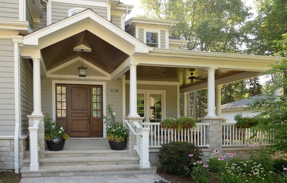 Cool Wrap Around Porch House Plans Decorating Ideas For Entry Traditional Design Ideas With Cool Bead Board C House Exterior Craftsman Style Homes Porch Design