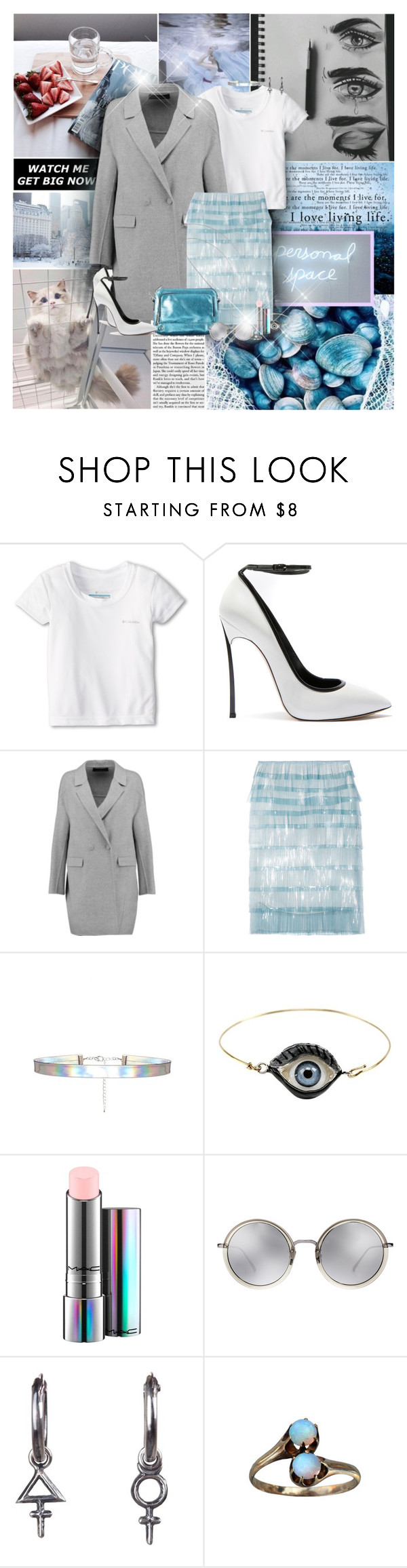 """""""Cry Baby!"""" by lady-redrise ❤ liked on Polyvore featuring Columbia Kids, Casadei, Pringle of Scotland, Marc Jacobs, Delfina Delettrez, MAC Cosmetics, Linda Farrow and Rachel Entwistle"""