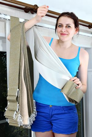 Diy Updating Fabric Vertical Blinds