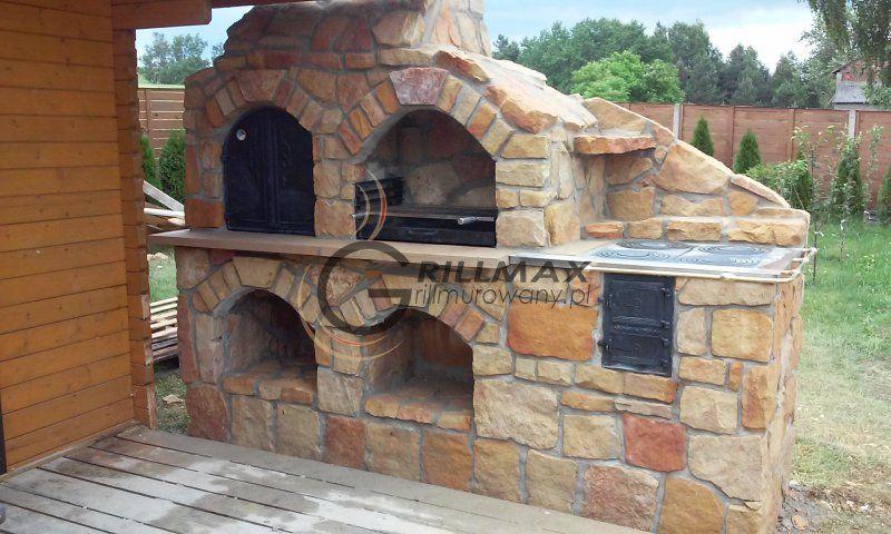 Kuchnia Na Fajerki Wedzarnia Grill Murowany Gril 5688700043 Oficjalne Archiwum Allegro Brick Grill Small Swimming Pools Outdoor Decor