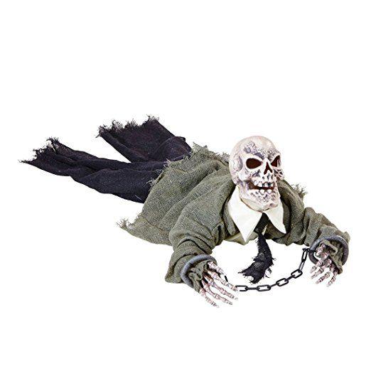 Animierte Zombie Leiche Gruselige Skelett Halloween Deko Mit Licht Und Sound Dekofigur Sensenmann Grim Reaper Halloween Deko Halloweendeko Halloween Deko Ideen
