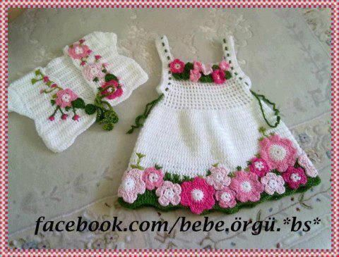 Mary Helen and crochet trico Crafts: bebe Dresses