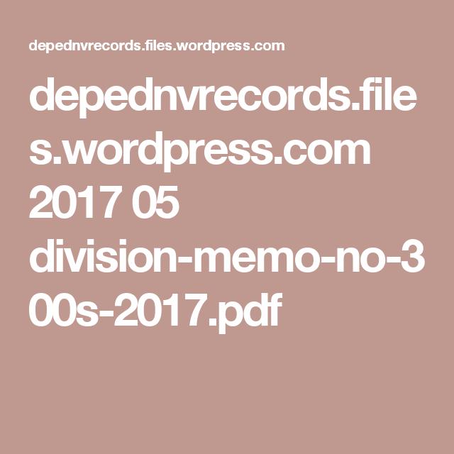 DepednvrecordsFilesWordpressCom   DivisionMemoNoS