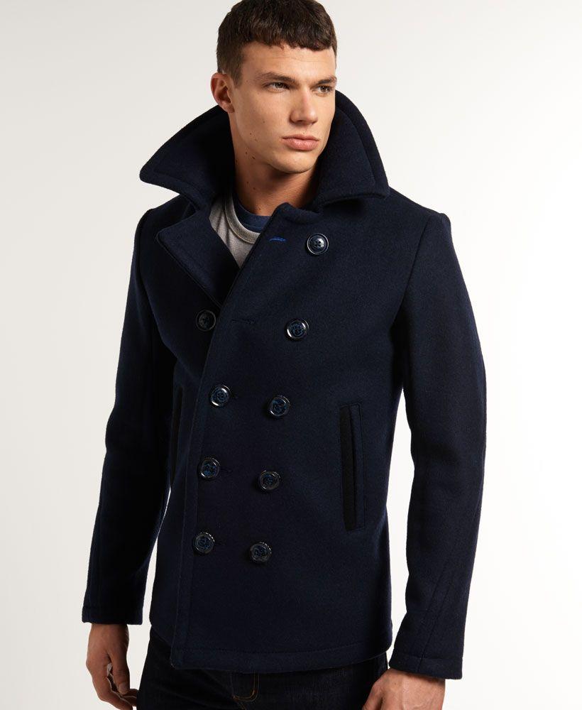 Superdry Bleecker Street Pea Coat - Men's Jackets