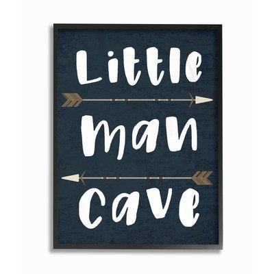 Mack Milo Little Man Cave Arrows Textual Art Products Frames