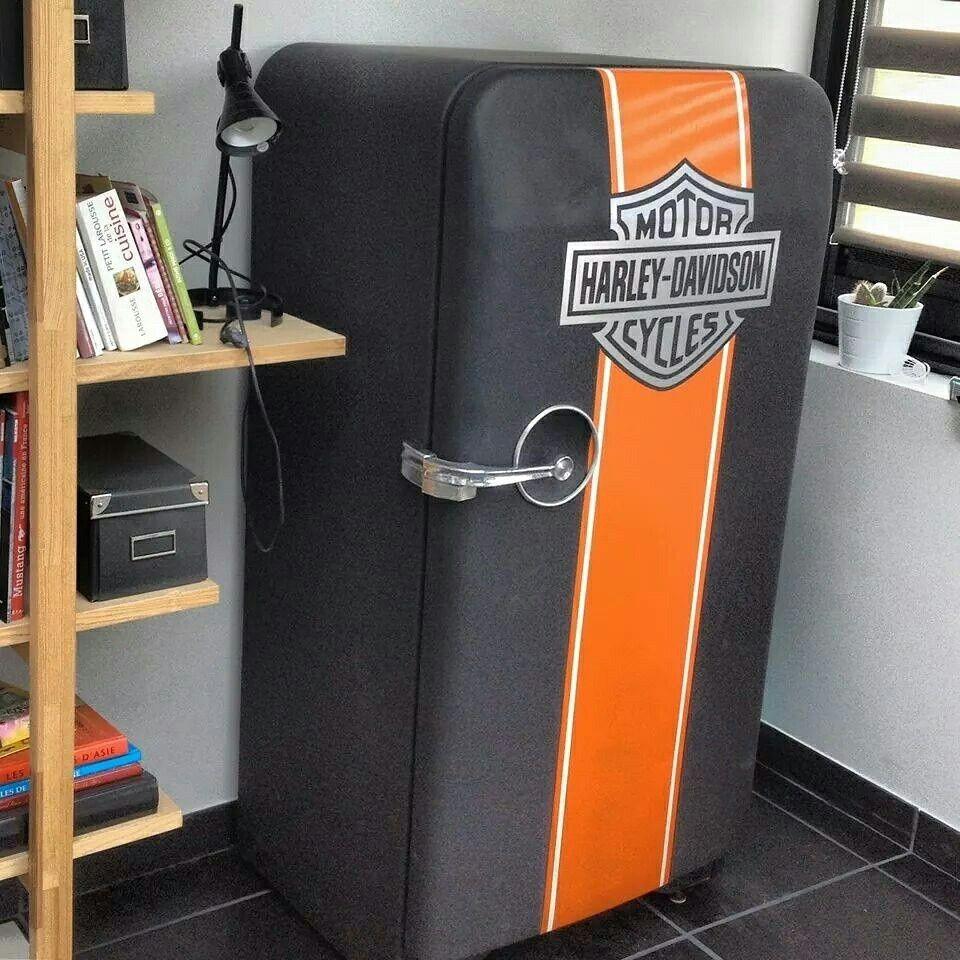 Vintage refrigerator fifties frigidaire1950 https://m.facebook.com/stebby.workshop Harley davidson