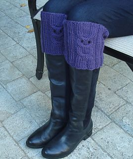 Owl Boot Toppers Knitted Boot Cuffs Boot Toppers Pattern Knit Boots