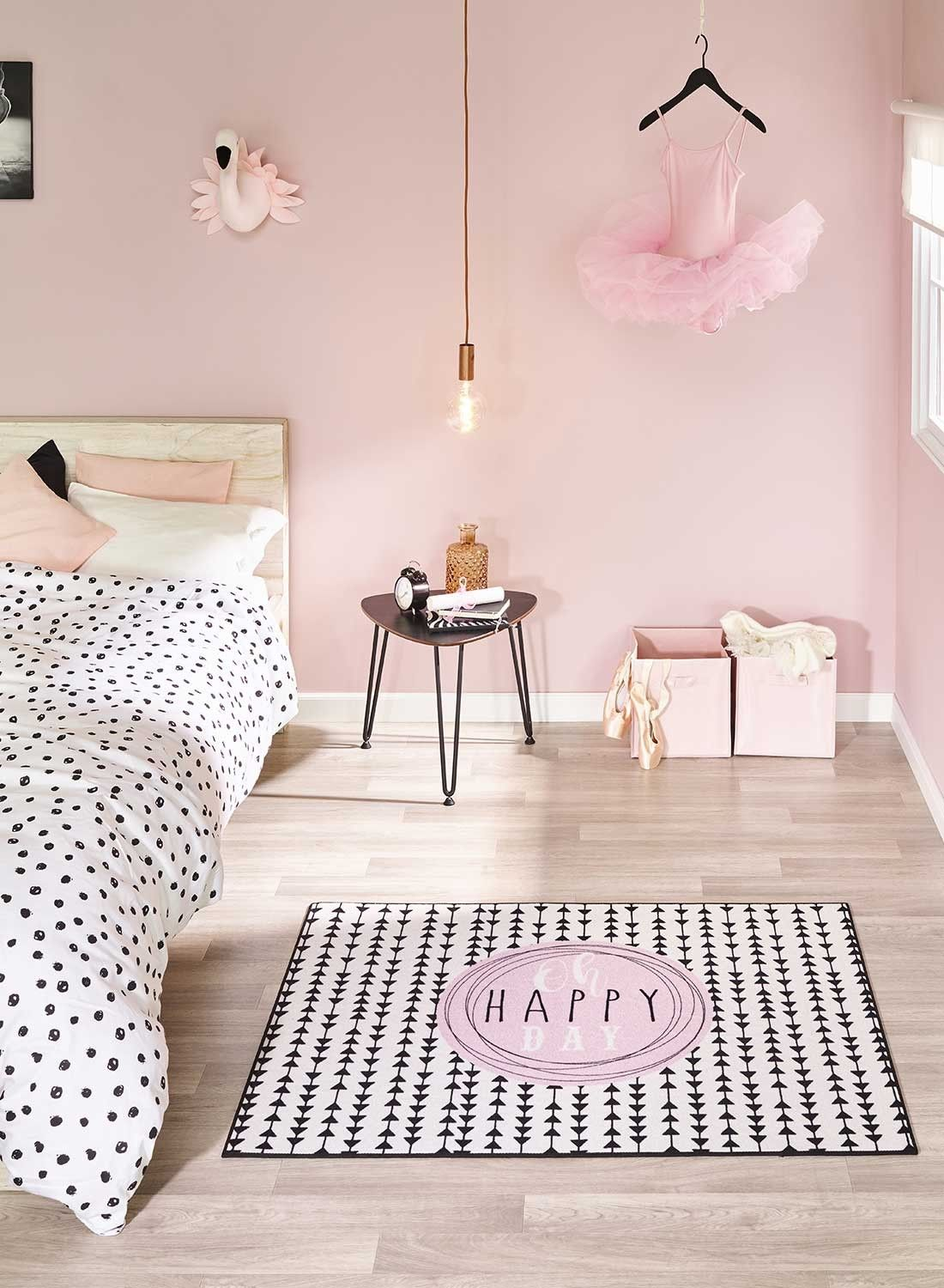 Oh Happy Day Md Tapis Chambre Fille Chambre Rose Et Blanc Tapis Chambre