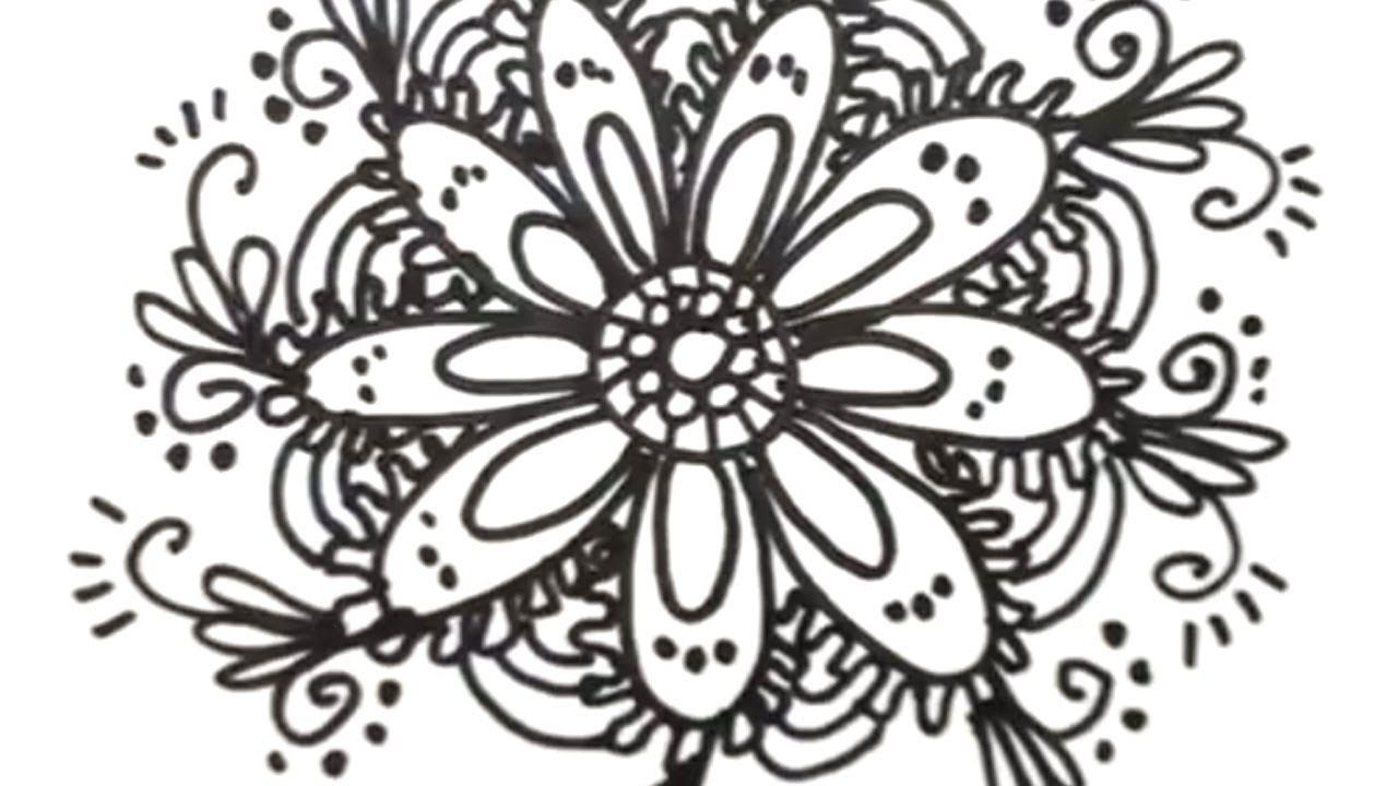 How To Draw Cool Designs Draw Flower Designs Flower Drawing Design Flower Drawing Cool Easy Drawings