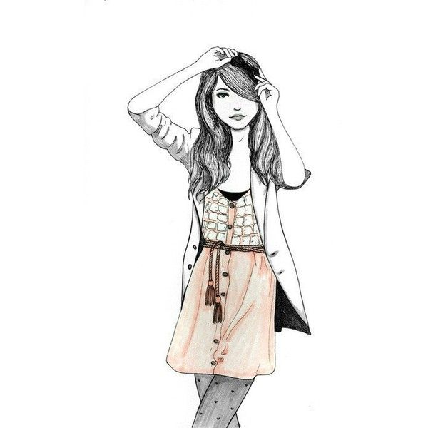 Fashion Sketch Tumblr Liked On Polyvore Polyvore