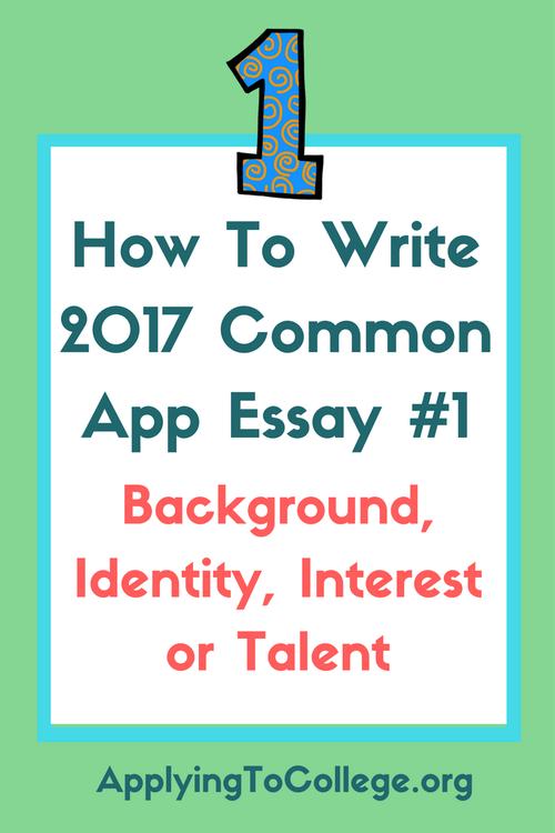 common app prompts 2017