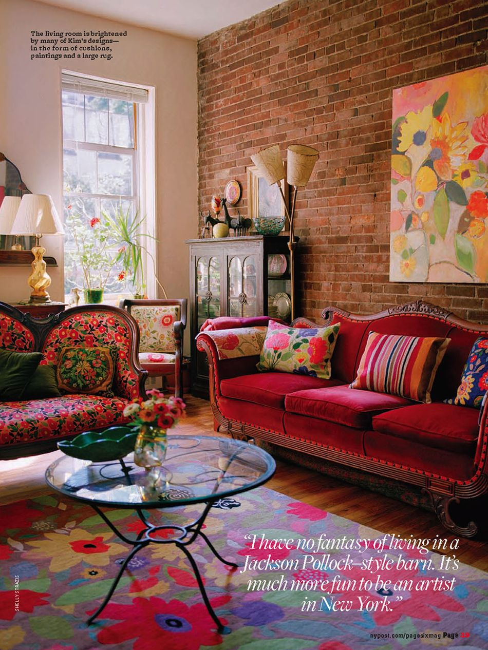 Kim Parker Interiors featured in The NY Post Page Six Magazine