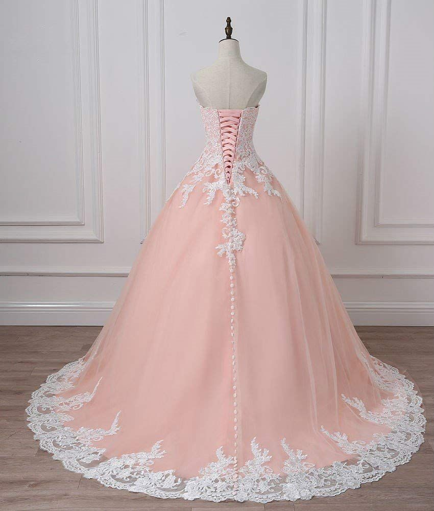 Qy Bride Gorgeous Wedding Reception Party Dresses Lace Prom Ball Gown Amazon Ca Clothing Accessories Online Wedding Dress Prom Ball Gown Ball Gowns