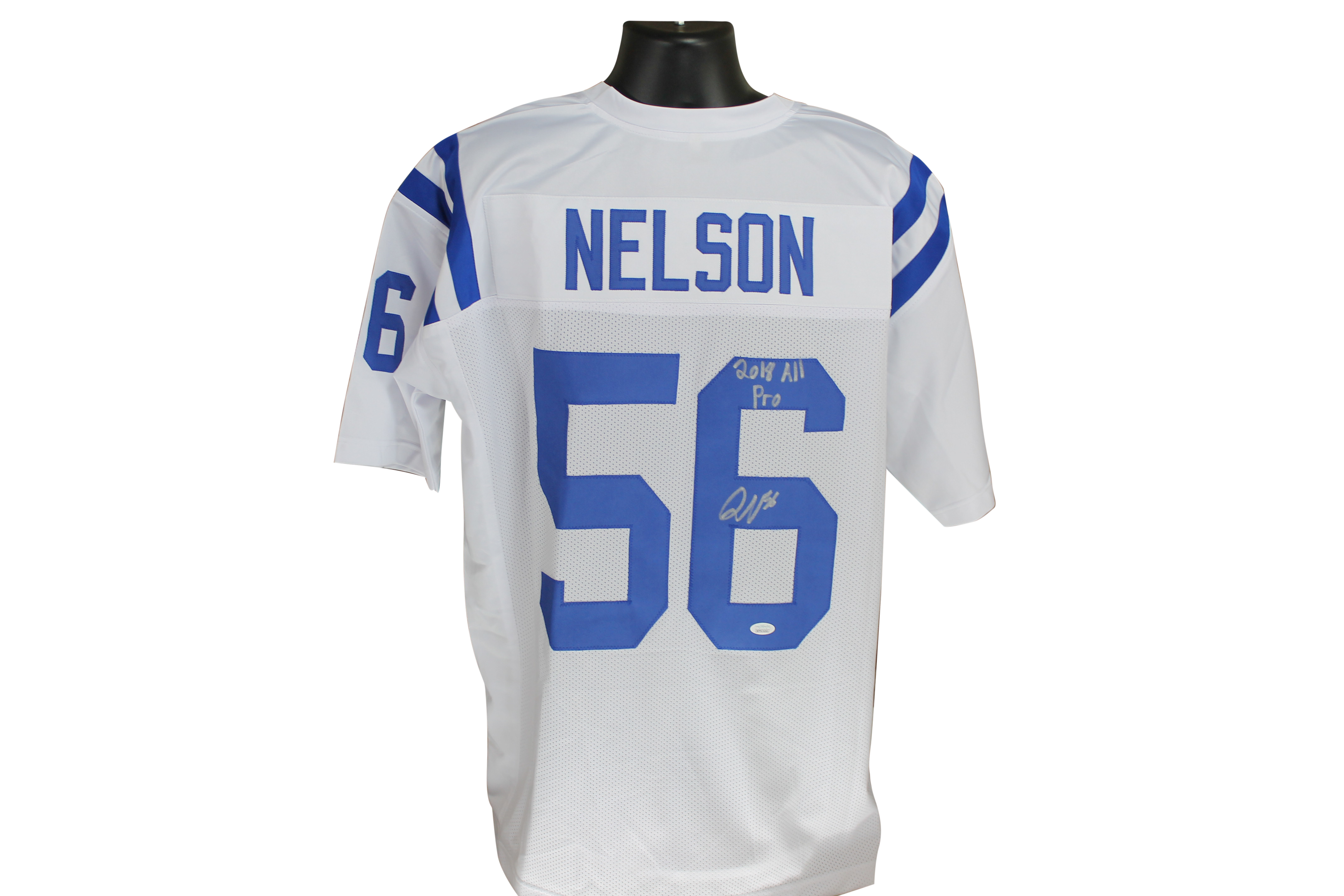 competitive price b86aa ecd4d Quenton Nelson Autographed Colts White Custom Jersey w/