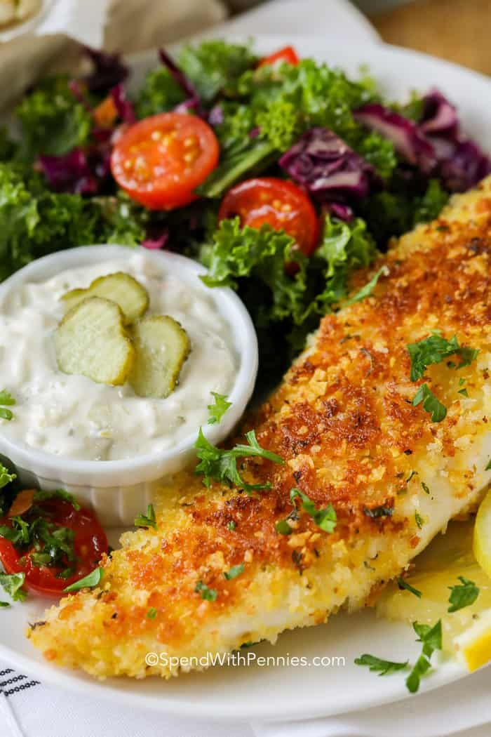 Parmesan Crusted Tilapia Is Easy To Make Tender Tilapia