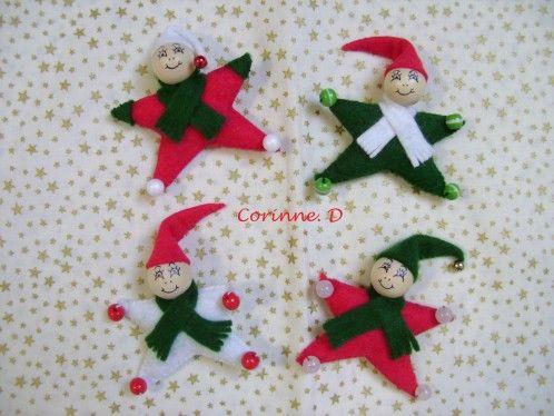 Une Petite Deco Realisee En Moins D Une Heure Et Trouve Sur Le Blog De Chantoune Deco Tres Agreable A Faire Lutin De Noel Deco Noel Feutrine Lutin En Feutrine