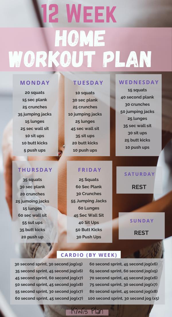 12 Week Home Workout Plan - Kiwi's Plan