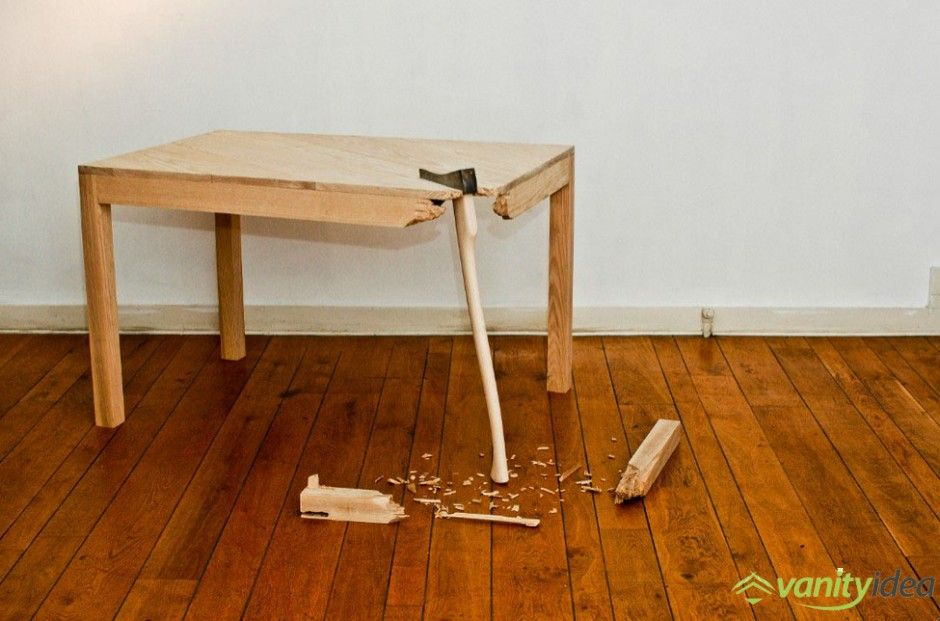 broken table art | functionality is overrated. principle of broken, Möbel