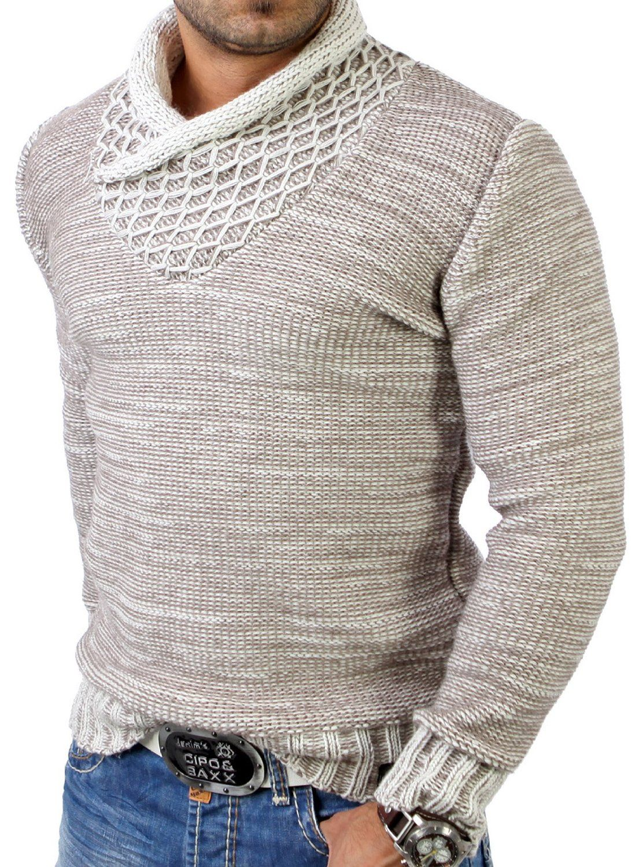 Tazzio Herren Grobstrick Winter Pullover TZ-3978: Amazon.de: Bekleidung